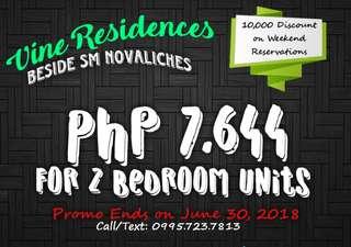 2 Bedroom Unit for Sale near SM Novaliches (Pre-Development)