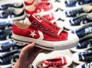 Converse 日本限定復刻版一星One Star 紅色布鞋not Chuck Taylor 1970
