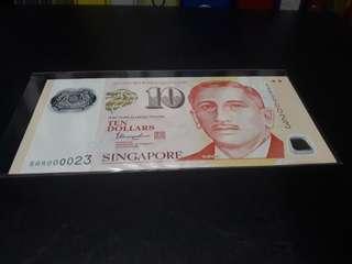 Singapore portrait $10