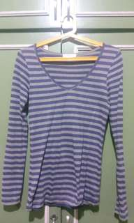 Forever 21 purple striped long sleeves