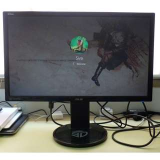 Asus VG248QE 24 inch gaming monitor, 144Hz, 1ms response time, Nvidia 3D vision ready.