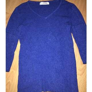 Long Sleeve blue top