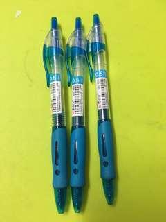 藍色原子筆 3支