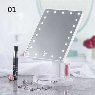 LED Touch Screen Makeup Mirror Cosmetic Vanity Light Up Table Desk Mirror