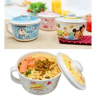 SOUP MUG WITH COVER*CUP*BOWL*MELAMINE*BPA*ABS*LITTLE TWIN STAR*MY MELODY*HELLO KITTY*DOREMON*POM POM PURIN*TSUM TSUM