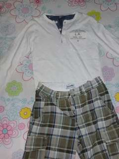 Zara long sleeves and Old Navy shorts ( take all)