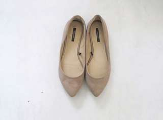 F21 Pointed Taupe Flats