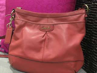 AUTH COACH LEATHER BAG
