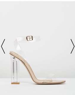 Billini Inca Clear Heels Size 5