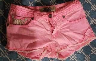 Von Dutch pastel pink shorts (Size 26)