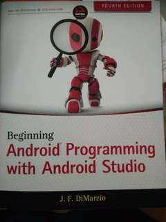 Android apps programming with android studio