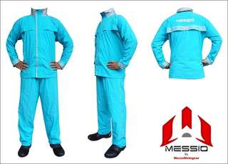 Jas Hujan / Raincoat Messio Ventilator Aqua