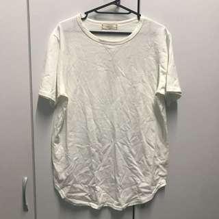🚚 棉質寬鬆T-shirt 米白