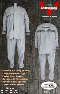 Jas Hujan / Raincoat Messio Ventilator Silver