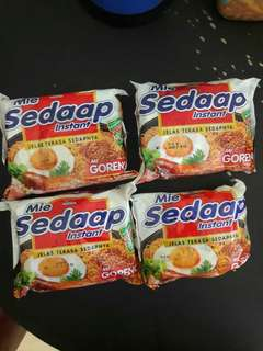 New Mie Sedap Goreng Take All 4pc