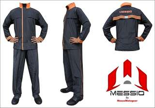 Jas Hujan / Raincoat Messio Ventilator Hitam