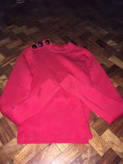 H&M Red Long Sleeves Wool