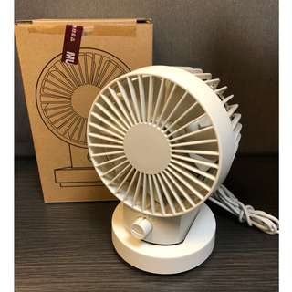 日本版 - MUJI USB Table Electric fan 無印良品雙層扇葉卓上USB小風扇 -米白色