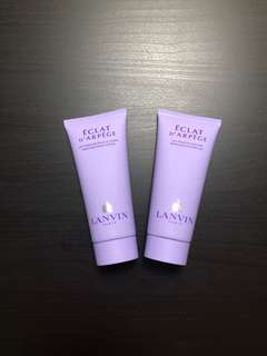 Lanvin body wash + lotion