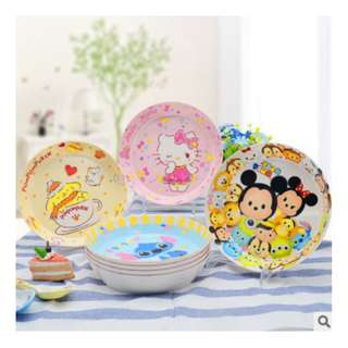 8INCHES DEEP MELAMINE PLATE*MUG*KITCHEN WARE*CULTERY*BOWL*LITTLE TWINSTAR*MY MELODY*HELLO KITTY*DOREMON