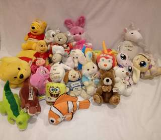 STUFF TOYS IN ONE PACK!