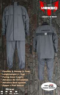 Jas Hujan / Raincoat Messio Ventilator Grey