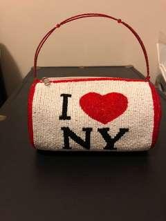 Beaded I ❤️ NY Bag