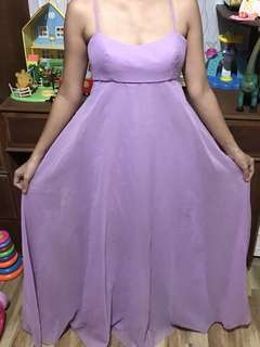 Custom made long lavender dress