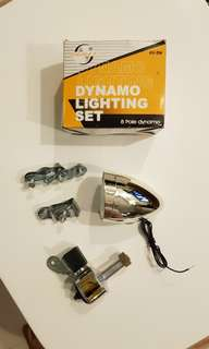 Bicycle Vintage Dynamo Lighting Set