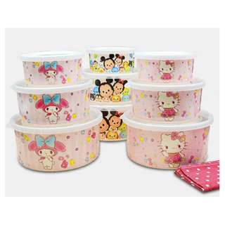3PCS AIRTIGHT CONTAINER*MELAMINE*HOT/COLD*HOUSEHOLD*KITCHEN*CUTE*FANCY*MY MELODY*TSUM TSUM*HELLO KITTY