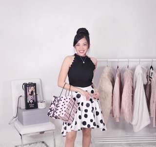 Plains and prints x barbie soda shop dress • very cute as seen on anne curtis • barbie doll polka dot black and white dress • almost new