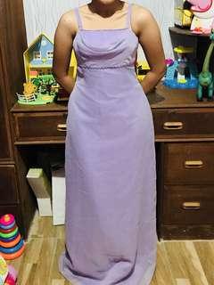 Custom made long lavender dress
