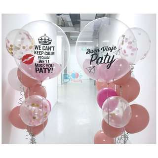 """🚚 24"""" personalised balloons for farwell party"""