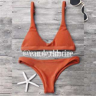 Ellis Orange Bikini Orange Two Piece Swimsuit Swimwear