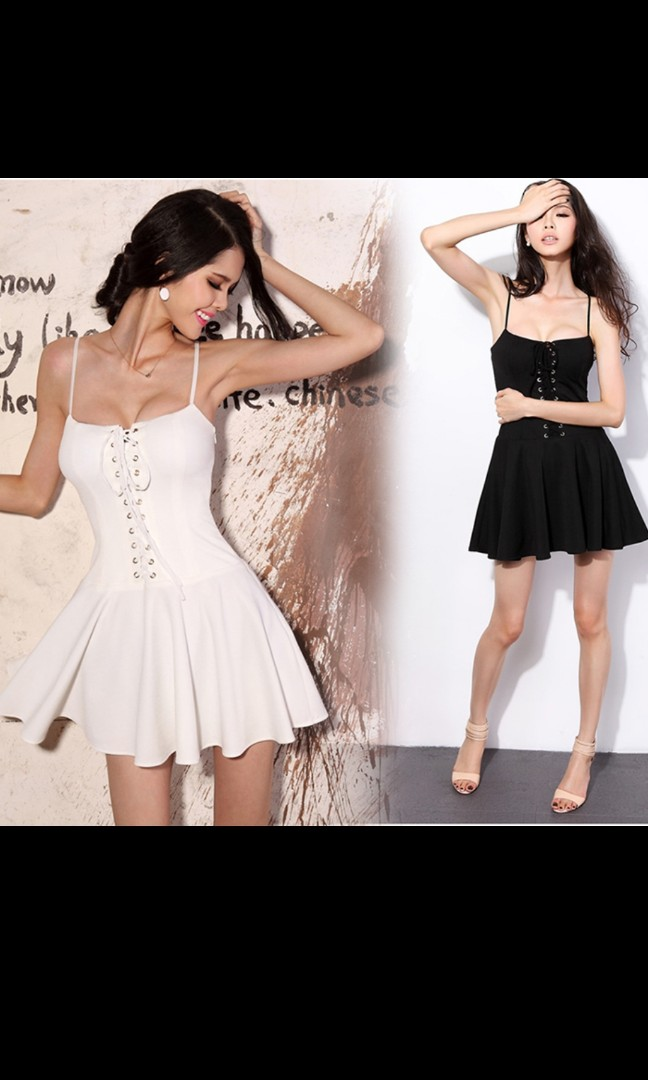 707261bb999b 2019 new Korean style dresses European and American wind sexy wrapped chest  bandage high waist show thin strap dress