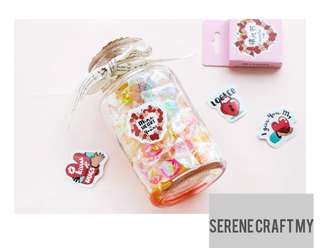 45pcs Love Messages Sticker Pack