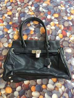 Cute Black Bag with lock and key