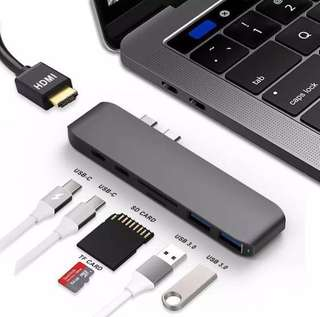 [1 year Warranty] SAGTEC Hyperdrive 7 in 1 Spacegrey USB C hub adapter with HDMI & SD Card