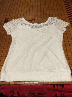 L Lacey White Top