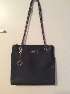 Black DKNY Saffiano Leather Tote