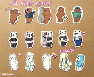 We Bare Bears Stickers