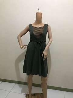 Size S Jumper Skirt Olive Green