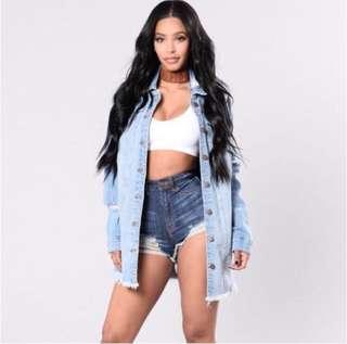 BN Fashion Nova Oversized Denim Jacket