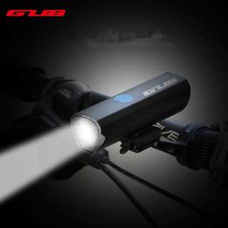 Gub 300 lumens USB rechargeable bright COB bicycle headlight
