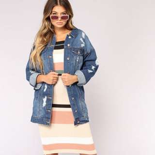 BN Fashion Nova Oversized Denim Jacket