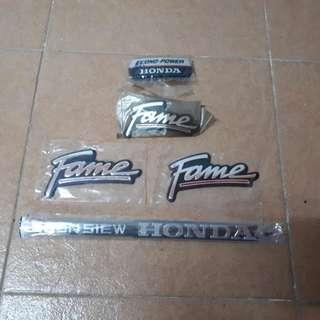 Emblem Honda Fame