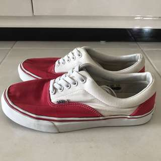 Vans Era Red White
