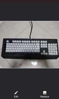 Razer Blackwidow Keyboard w optional white keycaps