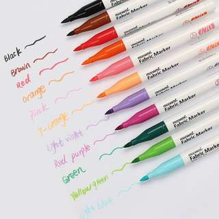 Monami Fabric Markers (red, yellow)