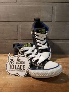 """Pre-Owned CONVERSE """"No time to lace"""" Sneakers"""